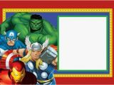 Marvel Avengers Birthday Invitations Avengers Free Printable Kit Oh My Fiesta In English
