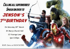 Marvel Avengers Birthday Invitations Birthday Invitation Cards Avengers Birthday Invitations