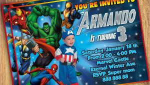 Marvel Avengers Birthday Invitations Marvel Party Invitations Cimvitation