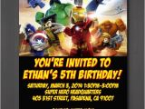 Marvel Superhero Birthday Invitations This Shop On Etsy Sells Lego Superheroes Themed