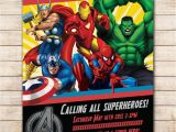 Marvel Superhero Birthday Party Invitations Avengers Birthday Invitation Google Search Visit to