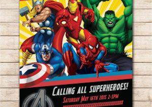 Marvel Superhero Birthday Party Invitations Avengers Invitation Google Search Visit To