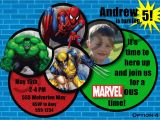 Marvel Superhero Birthday Party Invitations Marvel Superhero Birthday Invitations Best Party Ideas