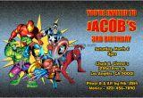 Marvel Superhero Birthday Party Invitations Marvel Superhero Invitations General Prints