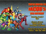 Marvel Superhero Birthday Party Invitations Marvel Superhero Invitations General Prints