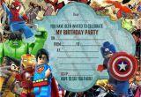 Marvel Superhero Birthday Party Invitations New Boys Birthday Party Invitations Lego Hero Lego Marvel