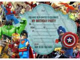 Marvel Superhero Birthday Party Invitations New Boys Birthday Party Invitations Lego Hero Lego Marvel