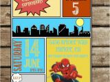 Marvel Superhero Birthday Party Invitations Spiderman Birthday Party Invitation Comic Superhero Marvel
