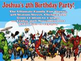 Marvel Superhero Birthday Party Invitations Super Hero Invitations Superhero Pow Girl Invitation