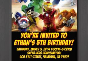 Marvel Superhero Birthday Party Invitations This Shop On Etsy Sells Lego Superheroes Themed