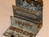 Masculine Birthday Cards to Make Tracy Says Gears Male Birthday Card