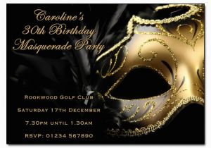 Masquerade Ball Birthday Party Invitations Invitation