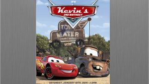 Mater Birthday Invitations Cars Lightning Mcqueen and Mater Birthday Invitation