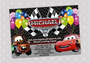 Mater Birthday Invitations Items Similar To Disney Cars Lightning Mcqueen And