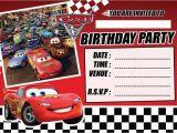 Mcqueen Birthday Invitation Cards Cars 3 Lightening Mcqueen Childrens Birthday Party