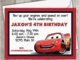 Mcqueen Birthday Invitation Cards Cars Birthday Invitation Lightning Mcqueen Birthday