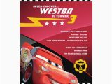 Mcqueen Birthday Invitation Cards Cars Lightning Mcqueen Birthday Card Zazzle Com