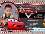 Mcqueen Birthday Invitation Cards Disney Cars Birthday Invitation Lightening Mcqueen