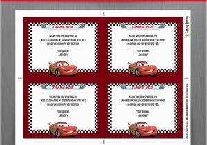 Mcqueen Birthday Invitation Cards Disney Cars Lightning With