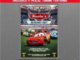 Mcqueen Birthday Invitation Cards Disney Cars Lightning Mcqueen Birthday Invitation with