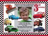 Mcqueen Birthday Invitation Cards Disney Cars Lightning Mcqueen Custom Birthday Invitation