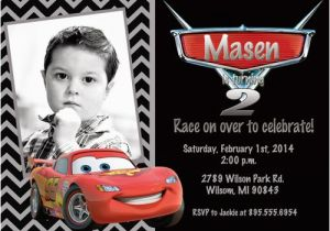 Mcqueen Birthday Invitation Cards Lightning Card Free Printable First