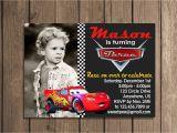 Mcqueen Birthday Invitation Cards Lightning Mcqueen Invitation Card