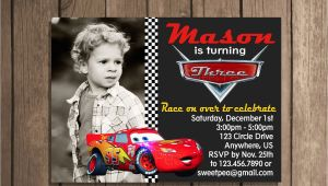 Mcqueen Birthday Invitation Cards Lightning Mcqueen Invitation Card