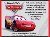 Mcqueen Birthday Invitation Cards Lightning Mcqueen Party Invitation Templates