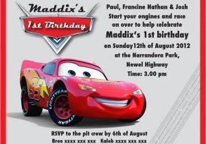 Mcqueen Birthday Invitation Cards Lightning Party Templates