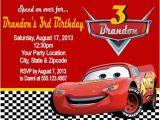 Mcqueen Birthday Invitation Cards Mcqueen Birthday Invitation Cards Hnc
