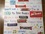 Meaningful 21st Birthday Gifts for Boyfriend 17 Best Images About Candy Bar Cards On Pinterest Candy