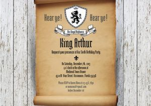 Medieval Birthday Invitations Knight Personalized