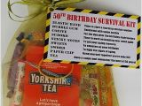 Memorable 50th Birthday Gifts for Him 50th Birthday Survival Kit Funny Gift Present for Him Her