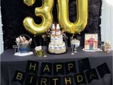 Mens 30th Birthday Decorations 30th Birthday Party Ideas Men Black and Gold Party Beer