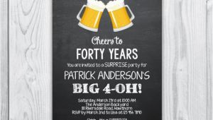 Mens 40th Birthday Invitations 40th Birthday Invitation 40th Birthday Invitation for Men