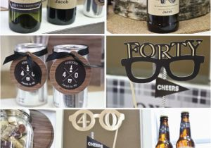 Mens 40th Birthday Party Decorations Ideas For Men Cheers To 40 Years Milestone