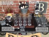 Mens 40th Birthday Party Decorations Masculine Bar Display 40th Birthday Party Party Time