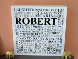 Mens Birthday Gifts Not On the High Street Personalised Men 39 S Birthday Canvas 21st 30th 40th