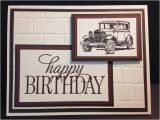 Mens Happy Birthday Cards Rubber Stamping Stamped Cards Gifts and Craft Items Many