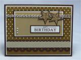Mens Happy Birthday Cards Stampin Up Handmade Greeting Card Happy Birthday Card