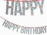 Meri Meri Happy Birthday Banner Liberty Betsy Happy Birthday Garland Decoration by Meri Meri