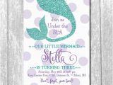 Mermaid Birthday Invitation Wording Party Under The Sea