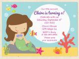 Mermaid Birthday Invitation Wording Party Invitations Cimvitation