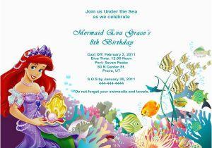 Mermaid Birthday Invitation Wording The Little Invitations Free Printable
