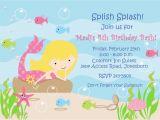 Mermaid Birthday Invitations Free Printable 8 Best Images Of Free Printable Mermaid Invitation