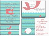 Mermaid Birthday Invitations Free Printable Free Mermaid Party Printables