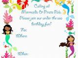 Mermaid Birthday Invitations Free Printable Free Printable Mermaid Birthday Invitation