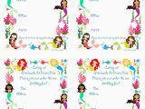 Mermaid Birthday Invitations Free Printable Free Printable Mermaid Birthday Party Invitations
