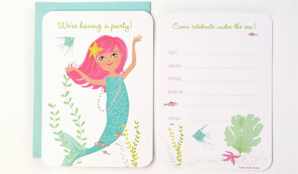 image regarding Free Printable Mermaid Template identified as Mermaid Birthday Invites Totally free Printable Mermaid Social gathering